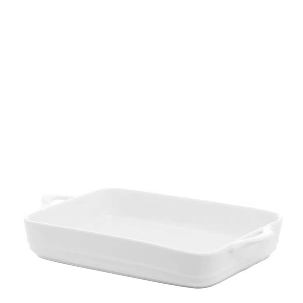 Travessa de Porcelana Branca 36X21X6CM