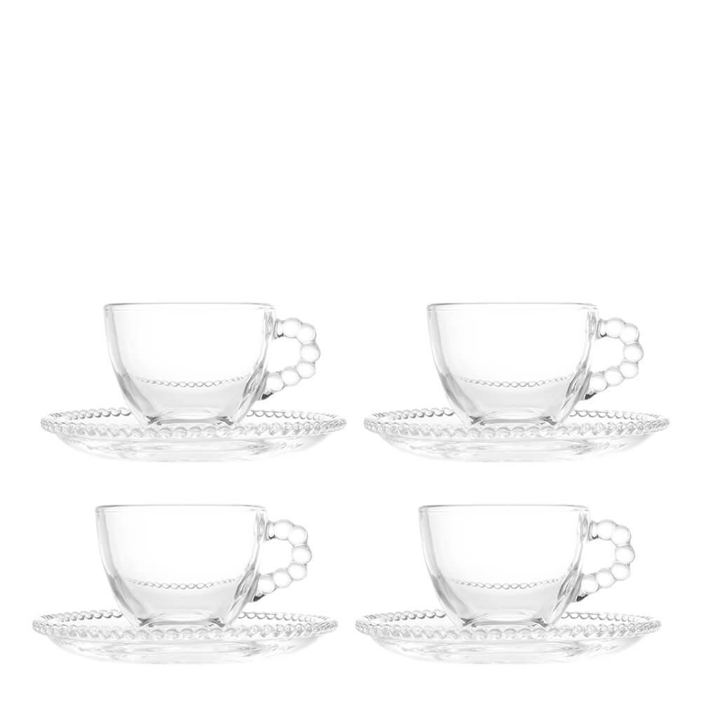 Xícara para Café de Cristal Pearl Wolff 80ML 4PÇS
