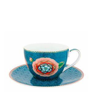 Xicara-para-Cha-de-Porcelana-Spring-To-Life-Pip-Studio-Azul-280ML