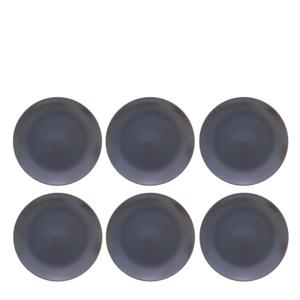Prato-para-Sobremesa-de-Ceramica-Home-Grafite-21CM-6pcs