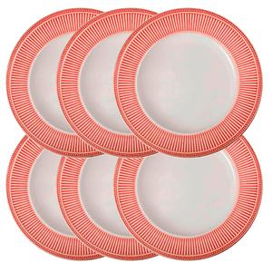 Prato-Raso-de-Ceramica-Toscana-Vermelho-28CM