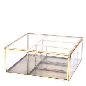 Caixa-Organizadora-de-Vidro-Dourada-20X20X8CM