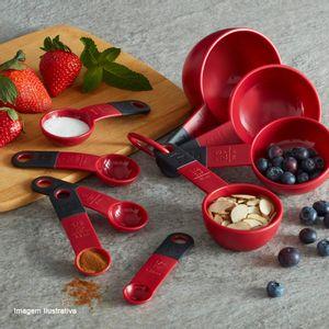 Colher-Medidora-de-Silicone-Kitchenaid-Vermelha-e-Preta-5PCS