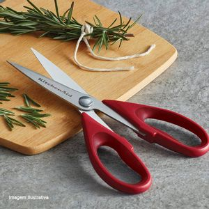 Tesoura-de-Aco-Inox-Kitchenaid-Vermelha-22CM