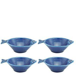 Petisqueira-de-Ceramica-Peixe-Ocean-Azul-14CM-4PCS
