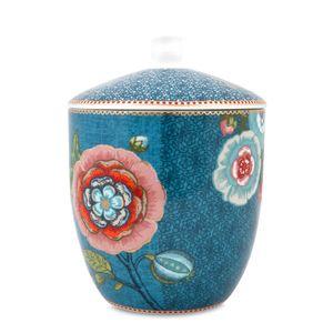 Pote-de-Porcelana-Spring-To-Life-Pip-Studio-Azul-19X14CM