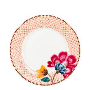 Prato-para-Sobremesa-de-Porcelana-Floral-Fantasy-Pip-Studio-Branco-21CM-6PCS