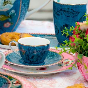 Xicara-para-Cafe-de-Porcelana-Spring-To-Life-Pip-Studio-Azul-80ML