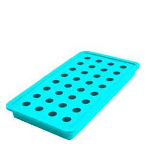 Forma-de-Gelo-de-Silicone-32-Cubos-Bolinha-Azul-20X11CM
