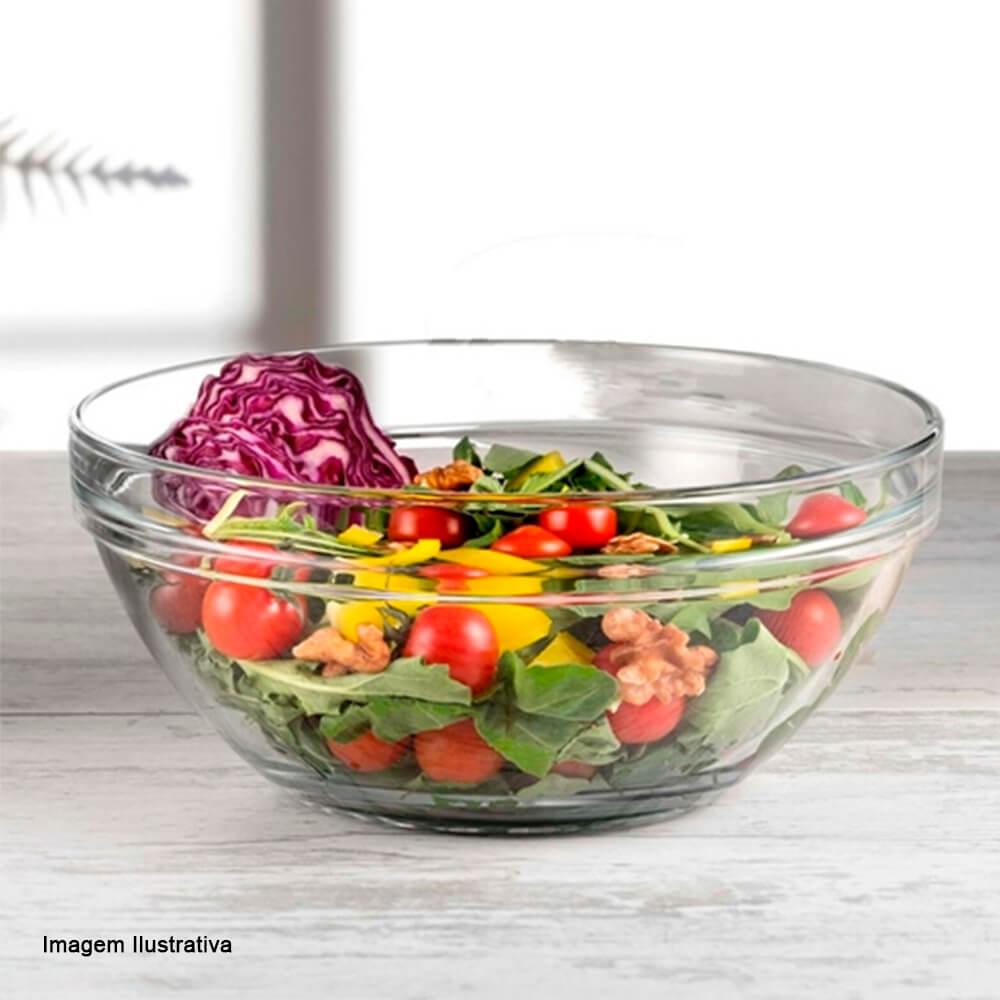 Saladeira de Vidro Chefs Pasabahce 26X11,5CM
