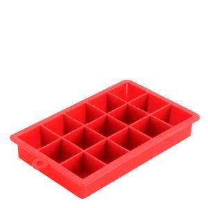 Forma-de-Gelo-de-Silicone-15-Cubos-Vermelha-18X115X3CM