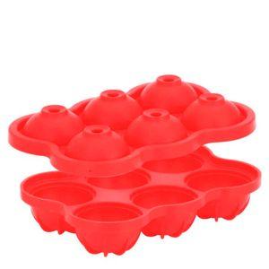 Forma-de-Gelo-de-Silicone-6-Cubos-Esferas-Vermelha-17X115X5CM
