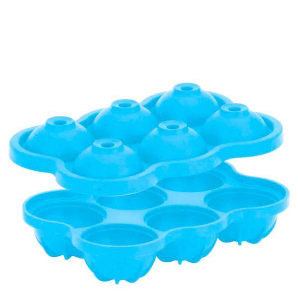 Forma-de-Gelo-de-Silicone-6-Cubos-Esferas-Azul-17X115X5CM