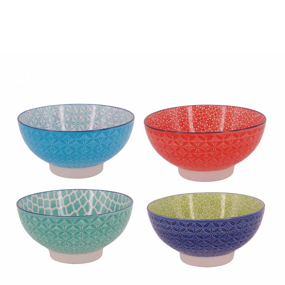 Bowl de Porcelana Geometric 15X7,5CM 4PÇS