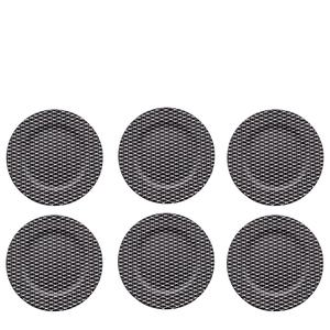 Sousplat-Geometric-Branco-e-Preto-33CM