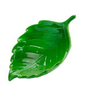 Petisqueira-de-Ceramica-Folha-Verde-20X14X6CM