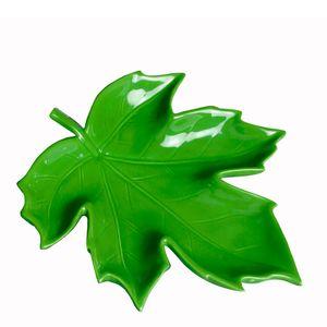 Petisqueira-de-Ceramica-Folha-Verde-23X22X4CM