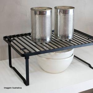 Organizador-de-Prateleira-de-Aco-Carbono-Empilhavel-Metalla-Preto-31X20CM