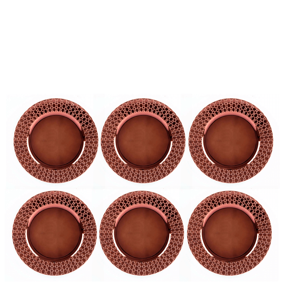Sousplat Bronze 33CM 6PÇS
