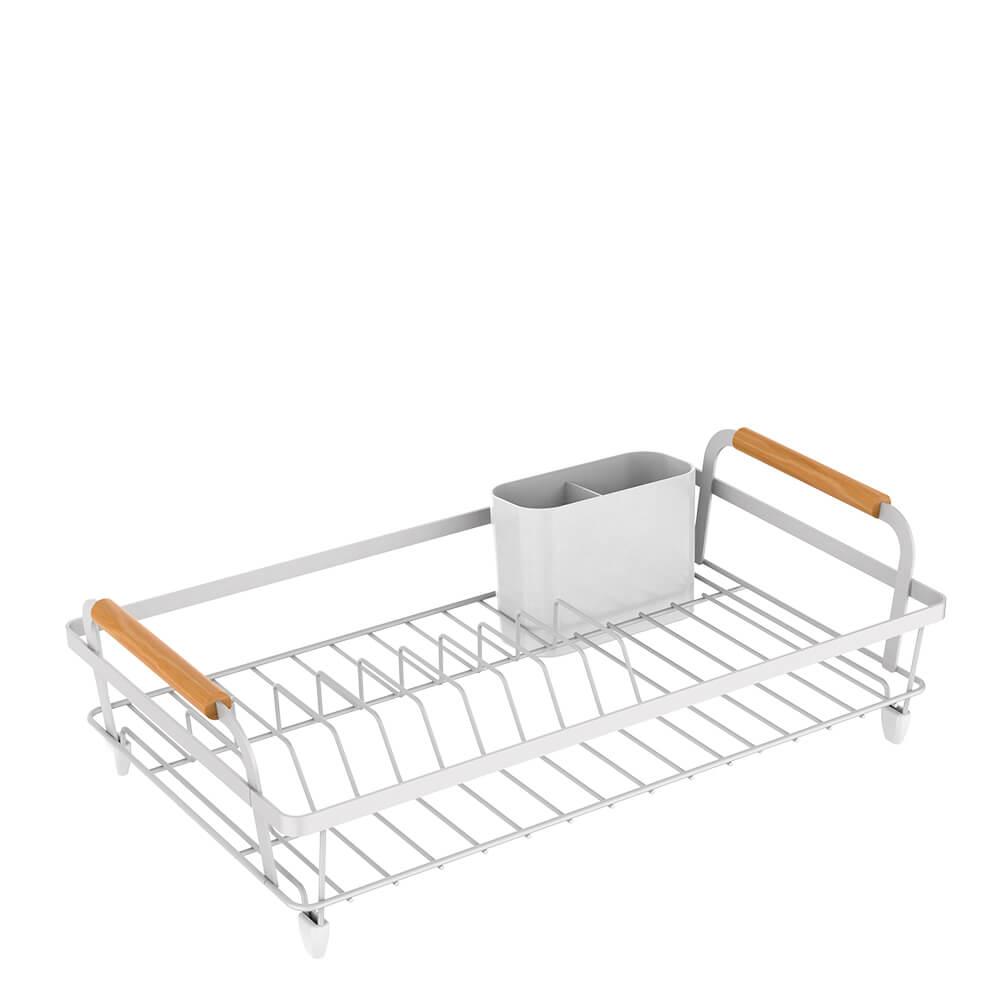 Escorredor de Louça e Escorredor de Copos de Aço Carbono Metalla Branco 2PÇS