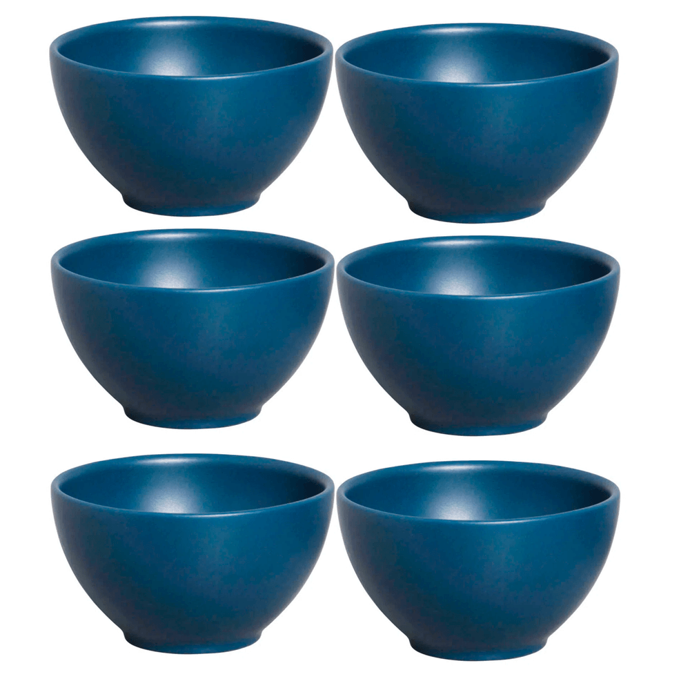 Bowl de Cerâmica Stone Boreal Porto Brasil Azul 13X7,5CM 6PÇS