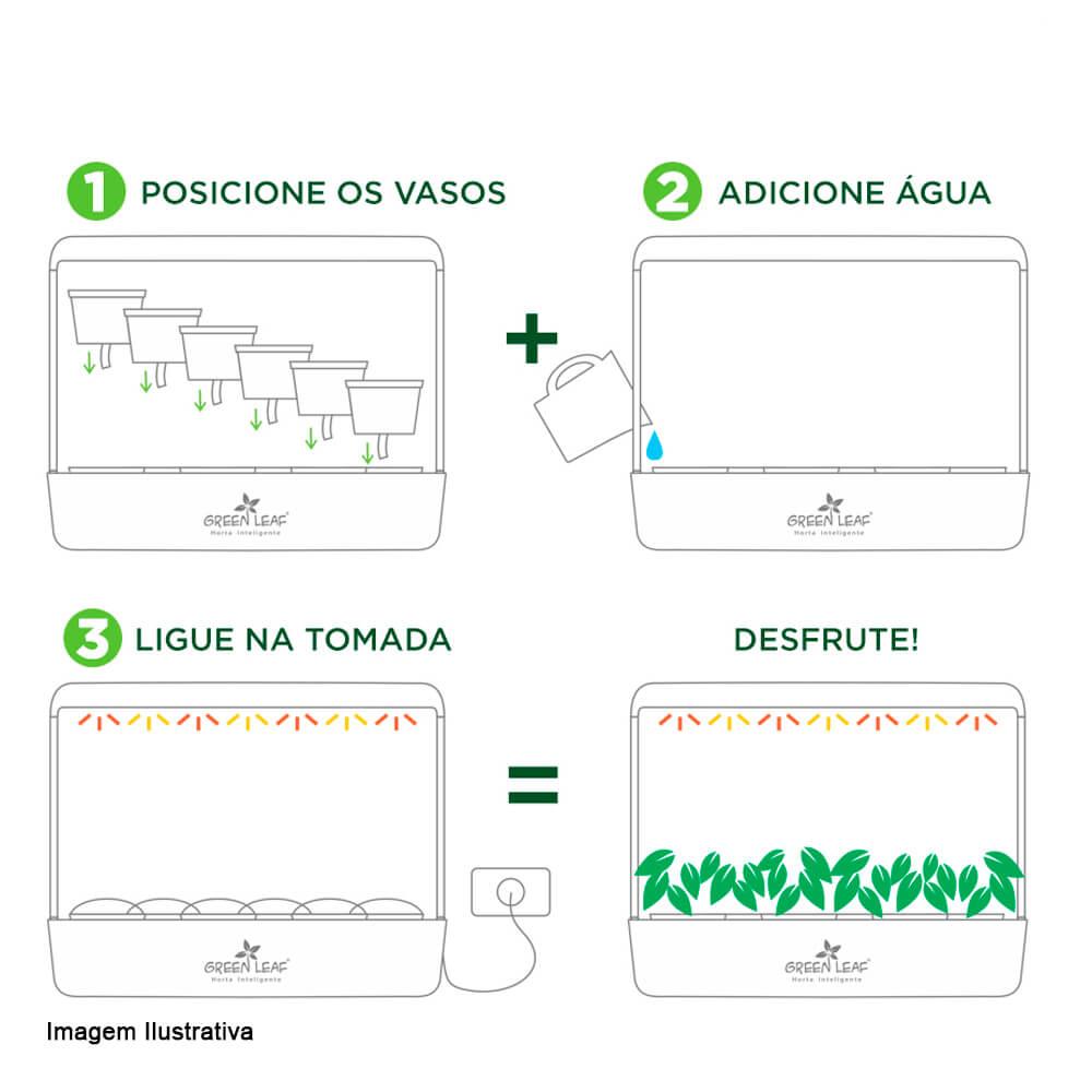 Horta Inteligente Green Preta 61X19X48CM