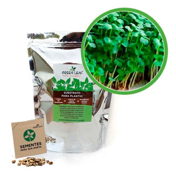 Kit-Horta-Inteligente-Green-Leaf-Rucula-Folha-Larga-Microverdes