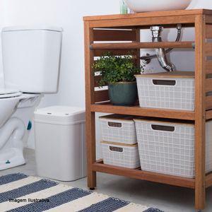 Caixa-Organizadora-Empilhavel-com-Tampa-de-Bambu-Branca-353X295X138CM