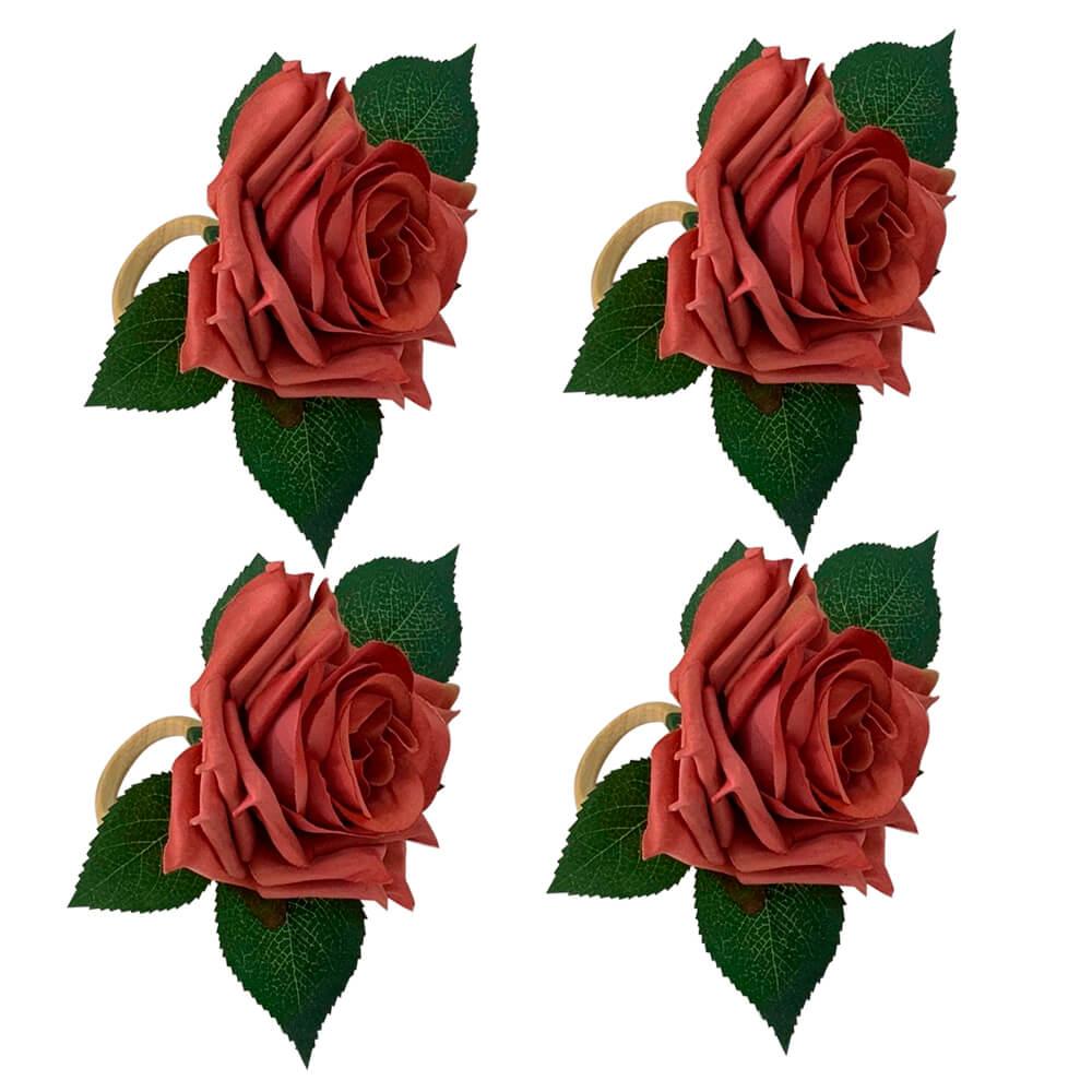 Argola para Guardanapo Rosa Madri Rosa 6PÇS