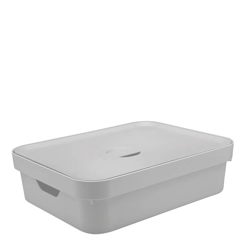 Caixa Organizadora com Tampa Cube OU Branca 45X35X13CM