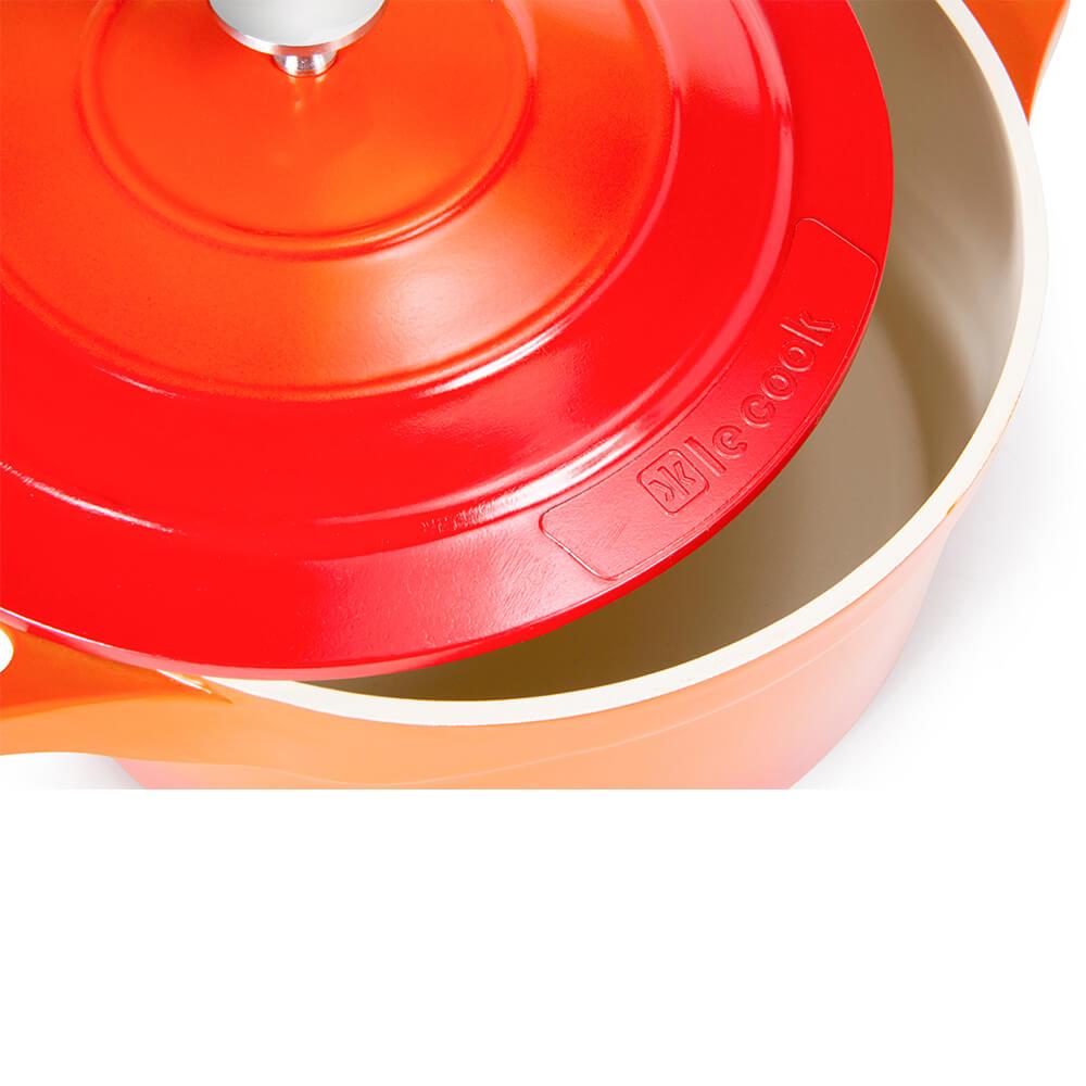 Caçarola Antiaderente Cerâmico Premier Le Cook Laranja 32CM