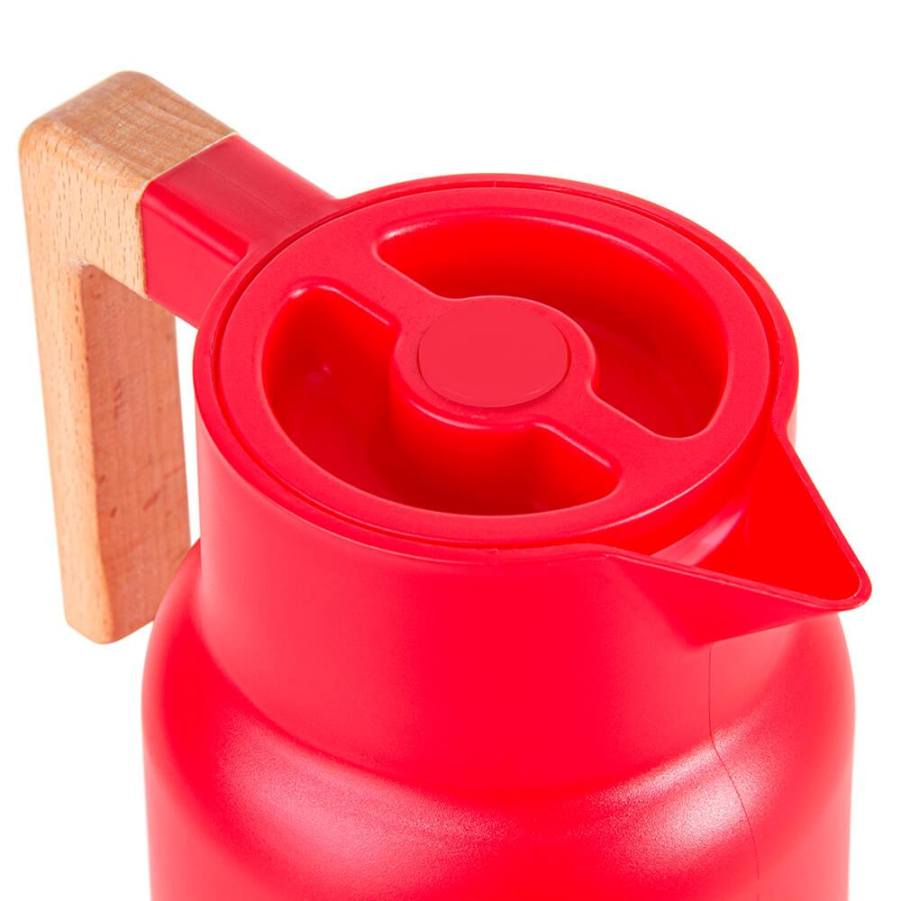 Garrafa Térmica Wood Fashion Le Cook Vermelha 1L