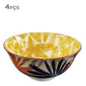 Bowl-de-Ceramica-Floral-Amarelo-11CM-4PCS