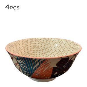 Bowl-de-Ceramica-Floral-Bege-11CM-4PCS