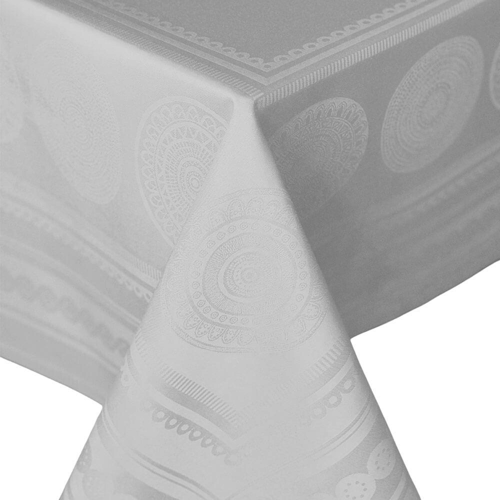 Toalha de Mesa Damasco Sia Cinza 300X150CM