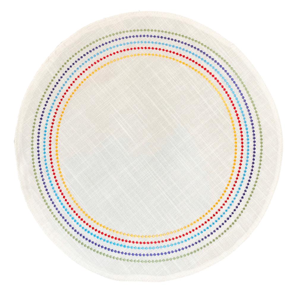 Jogo Americano de Poli-Linho Punti Auguri Casa Rainbow 35CM