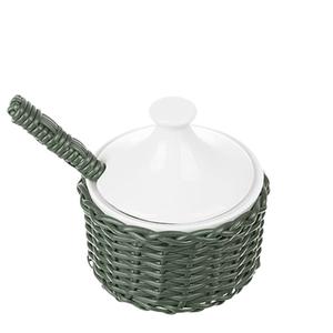 Acucareiro-de-Porcelana-e-Vime-Verde-Musgo-115X11CM