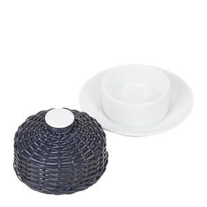 Manteigueira-de-Porcelana-e-Vime-Azul-Marinho-10X5CM