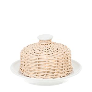 Manteigueira-de-Porcelana-e-Vime-Bege-10X5CM