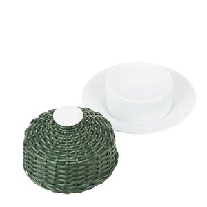 Manteigueira-de-Porcelana-e-Vime-Verde-Musgo-10X5CM
