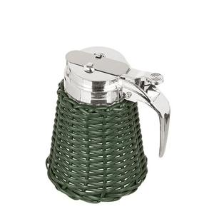Meleira-de-Vidro-e-Vime-Verde-Musgo-125X8CM